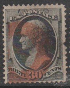 U.S. Scott #165 Hamilton Stamp - Used Single