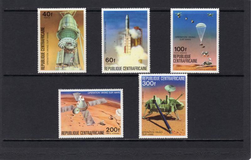 Central African Republic 1976 Sc#257/258C151/3 VIKING MARS SPACE Set(5) MLH