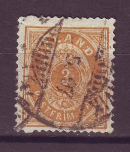 J25509 JLstamps 1882-98 iceland used #15 numeral