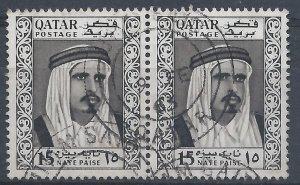 Qatar 1961 - 15np pair - SG28 used