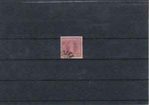 Balvaria 1850-62 1k Red Used Stamp CAT£38 Ref: R7507