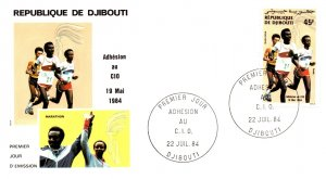 Djibouti, Worldwide First Day Cover, Sports
