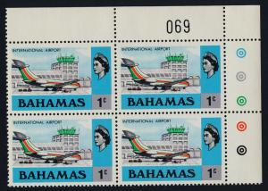 Bahamas 313 TR Block MNH Aircraft, International Airport