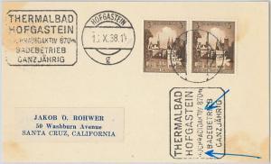 57801 -  NUCLEAR ENERGY  - GERMANY - POSTAL HISTORY:   POSTMARK  on  COVER 1938