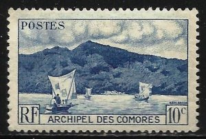 Comoro Islands 1950 Scott# 30 MH (thin)