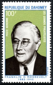 Dahomey C116, MNH. Pres. Franklin D. Roosevelt, 25th anniv. of the death, 1970