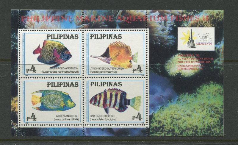 STAMP STATION PERTH Philippines #2412 Fish Souvenir Sheet MNH CV$5.00