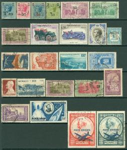 EDW1949SELL : MONACO Very clean, all VF, Used collection of ALL DIFF. Cat $172.