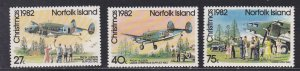 Norfolk Island # 299-301, Christmas, Aircraft Landing, NH, 1/2 Cat.