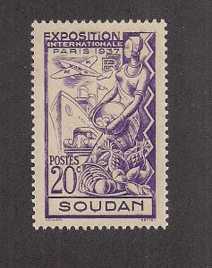 FRENCH SUDAN SC# 106 VF LH 1937