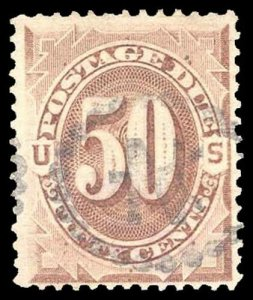 U.S. POSTAGE DUE J21  Used (ID # 91236)