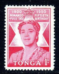 TONGA --  1950 -- SG 92  -   1/2d   value     MM