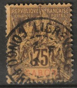 Gabon 1904 Sc 29 used Libreville CDS