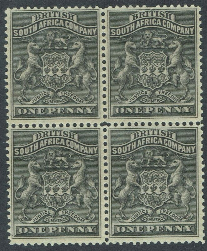 RHODESIA 1892 ARMS 1D */** BLOCK