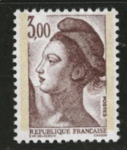 FRANCE Scott 1802, Yvert 2243a Phos tagged Liberty 1982