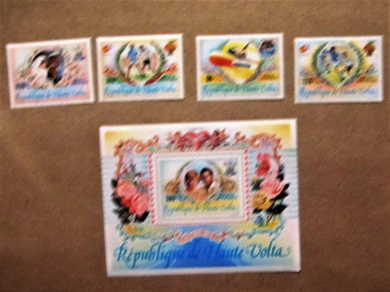 Upper Volta - C273-77, MNH Set with S/S. Anniversaries and Events. SCV - $12.75