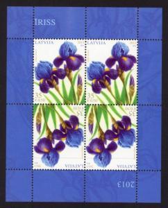 Latvia Sc# 829 MNH Irises (M/S of 4)