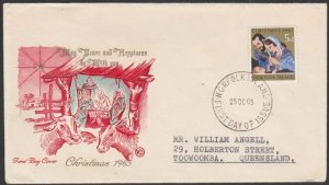 NORFOLK IS 1965 Christmas FDC - Wesley cover................................C748