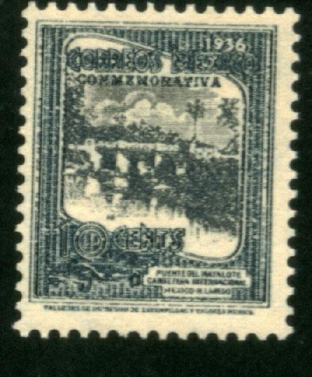 MEXICO 726, 10¢ HIGHWAY INAUGURATION, UNUSED, H OG. VF.