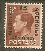 Great Britain Offices in Morocco   Scott 428   King    Unused