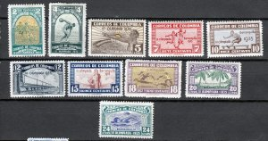 J26942 1935 colombia mh part of set #421-4,426-31 sports $49.00+ scv