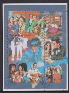Spanish Sahara 1996 Elvis Miniature Sheet