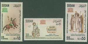 British Sudan SC# 164-6 UNESCO Save Nubia monuments set MH