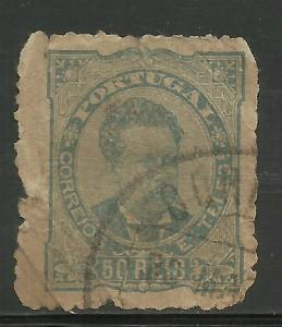 Portugal 1882 Scott# 61 Used (looks like it's been through 2 wars)