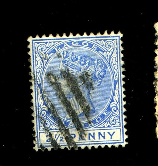 Lagos #19a Used Blue F-VF Cat$ 57.5