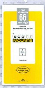 Scott/Prinz Pre-Cut Strips 240mm Long Stamp Mounts 240x66 #940 Black