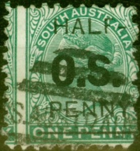 South Australia 1882 1/2d on 1d Blue-Green SG048 Good Used