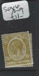 KENYA AND UGANDA   (P3105B)  KGV SG 86   75C         MOG