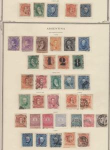ARGENTINA 1867-1977 COLLECTION ON 73 SCOTT ALBUM PAGES Sc 18 to 1179 SCV$2,109+