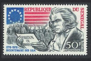 Senegal Jefferson American Revolution 1976 MNH SG#593