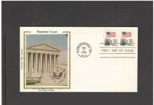 USA: #12 /**SUPREME COURT- DC CANCEL ** / SILK CACHET- FDI- Excellent Condition