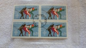 POLAND BLOCK OF 4 STAMPS . CTO. MNH. 1980