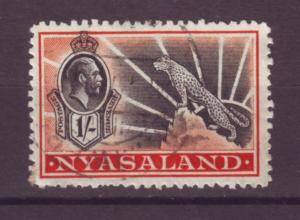 J20895 Jlstamps 1934-5 nyasaland proct used #46 leopard
