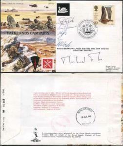 JS(CC)12c Falklands Campaign Signed by Sir Michael Rose and 5 Crew Members