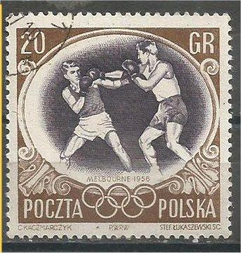 POLAND, 1956, used 20g, Olympic Games, Melbourne. Scott 751