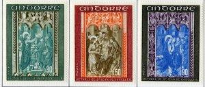 FRENCH ANDORRA 207-9 MH SCV $5.25 BIN $2.25 RELIGION