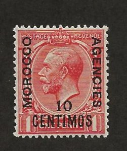 GREAT BRITAIN OFFICES - MOROCCO SC# 64  FVF/MOG 1929