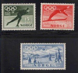 Norway Scott B50-B52 MH* 1951 Oslo Olympics semi-postal set