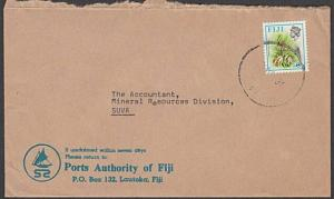 FIJI 1981 local cover FOUND OPEN AT GPO handstamp on reverse...............54499