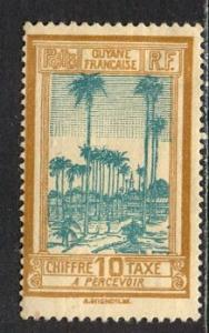 French Guiana 1929: Sc. # J14; */MH Single Stamp