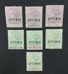 MOMEN: LAGOS SG #30s/41s SPECIMEN 1887-1902 UNUSED LOT #191525-445