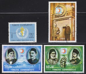Turkey Scott B124-27 complete set F to VF used.