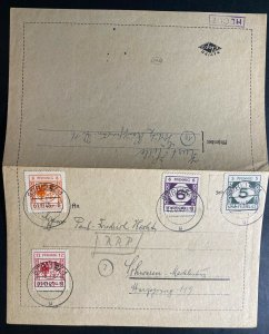 1945 Gorlitz Germany Local issue Stamps Postcard Cover