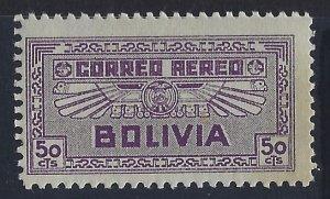 Bolivia, Scott #C40; 50c Air Service Emblem, MNH