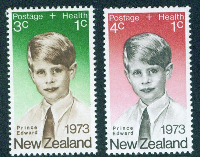 New Zealand Scott B87-8 1973 Prince Edward set MH*