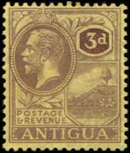 Antigua SC# 58 SG# 55 King George V 3d  wmk 3 MH